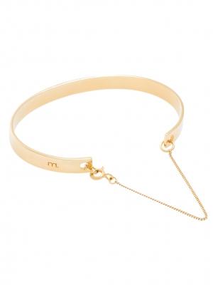 Złota bransoletka minimalistyczna biżuteria moie