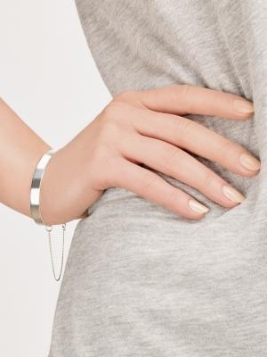 Srebrna bransoletka minimalistyczna biżuteria moie
