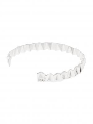 Srebrna bransoletka geometryczna minimalistyczna biżuteria moie