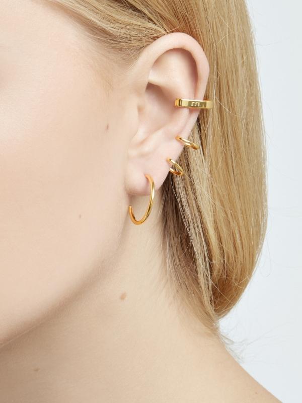 Nausznica kolczyk me13 gold złoto minimalistyczna biżuteria moie