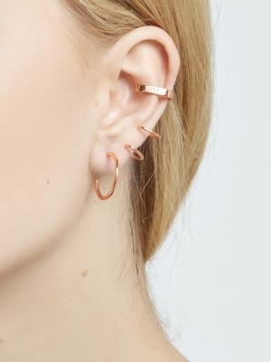 kolczyk nausznica me13 rose gold różowe złoto minimalistyczna biżuteria moie