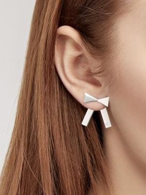Kolczyki z kokardką srebrne srebro bo1 silver minimalistyczna biżuteria moie