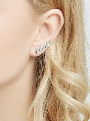 Srebrne kolczyki geometryczne minimalistyczna biżuteria moie
