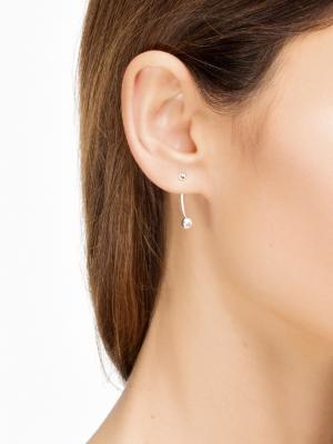 moie Srebrne kolczyki kulki minimalistyczna biżuteria moie
