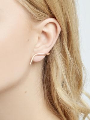 Nausznice kolczyki różowe złoto minimalistyczna biżuteria moie