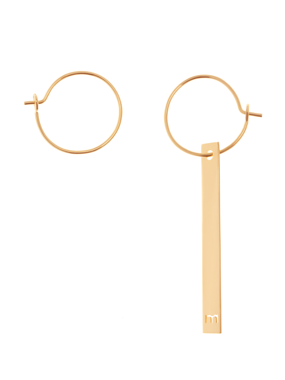 Złote kolczyki blaszki minimalistyczna biżuteria moie