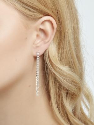 Srebrne kolczyki z łańcuszkiem minimalistyczna biżuteria moie