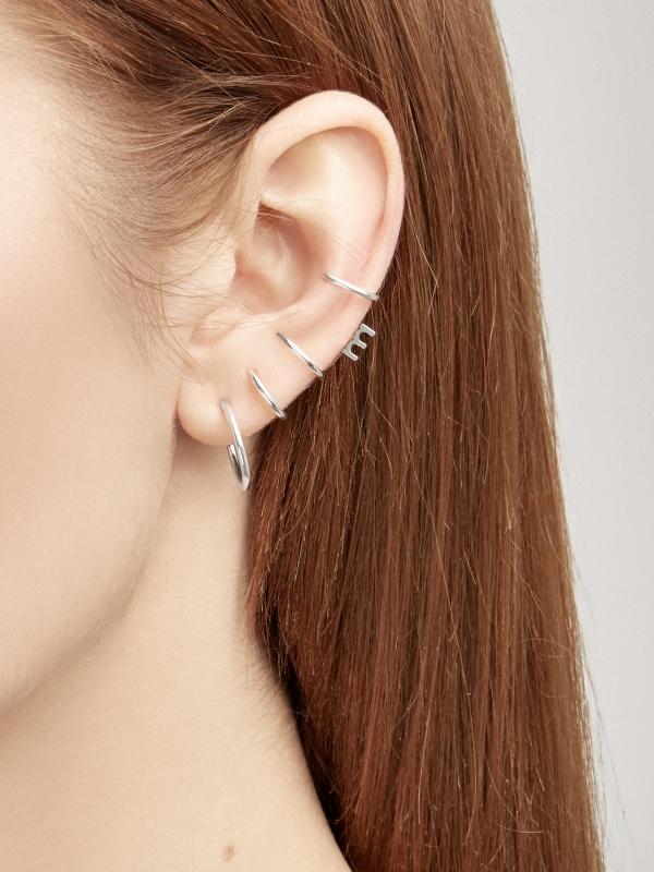 Srebrne kolczyki nausznice me3 silver srebro minimalistyczna biżuteria moie