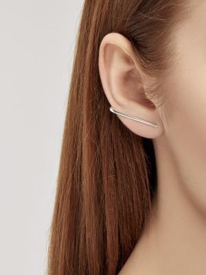 Srebrne kolczyki linie me5 silver srebro minimalistyczna biżuteria moie