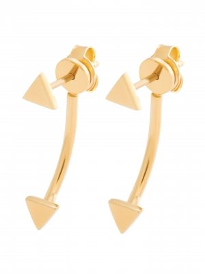 moie Złote kolczyki z trójkątami minimalistyczna biżuteria moie