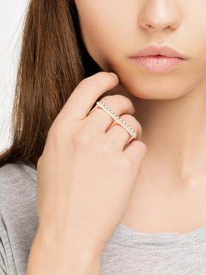 moie Srebrny pierścionek podwójny minimalistyczna biżuteria moie