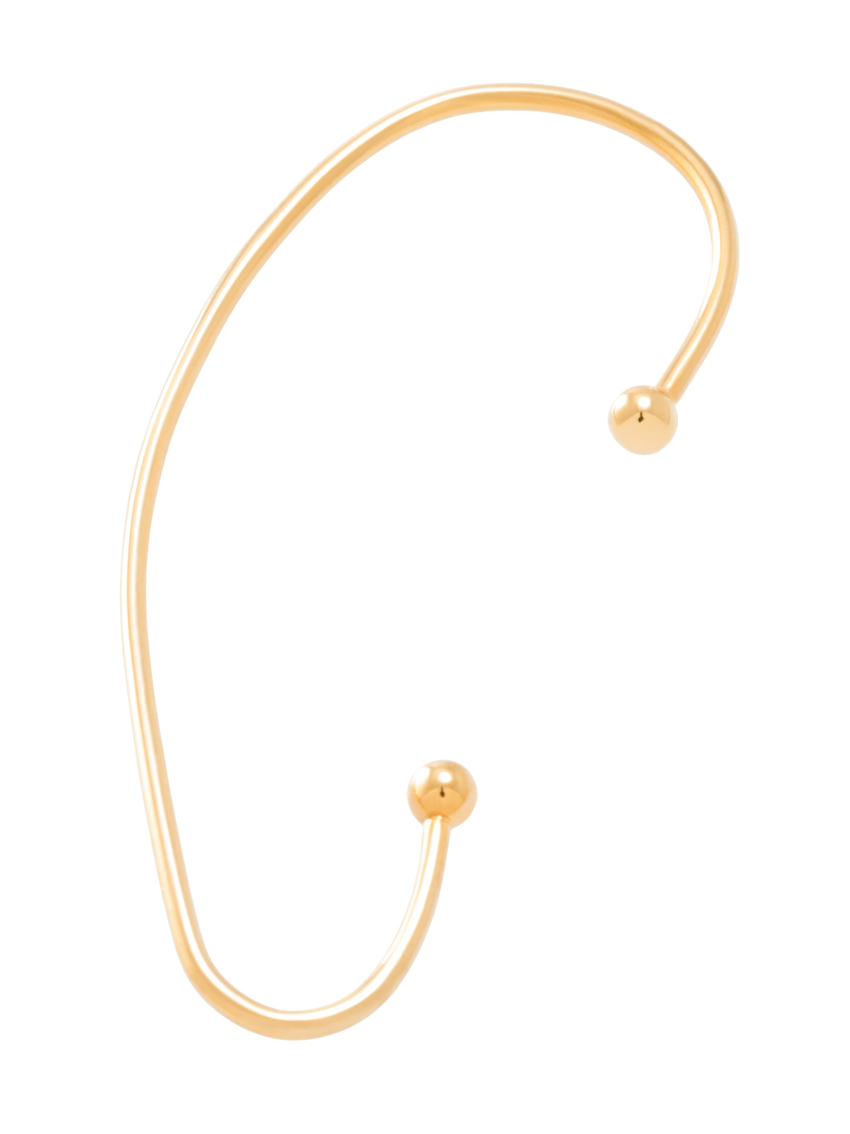 moie Złota nausznica z kulkami minimalistyczna biżuteria moie