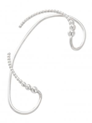 moie Srebrna nausznica duża minimalistyczna biżuteria moie