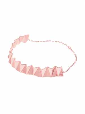 naszyjnik geometryczny różowe złoto minimalistyczna biżuteria moie