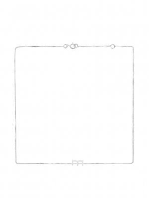 Srebrny łańcuszek z literką M naszyjnik minimalistyczna biżuteria moie
