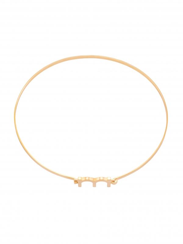 Złoty choker z literą minimalistyczna biżuteria moie