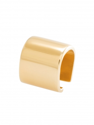 Złota nausznica na chrząstkę minimalistyczna biżuteria moie