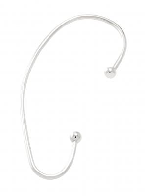 moie Srebrna nausznica z kulkami minimalistyczna biżuteria moie