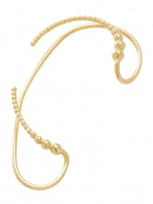 moie Złota nausznica duża minimalistyczna biżuteria moie
