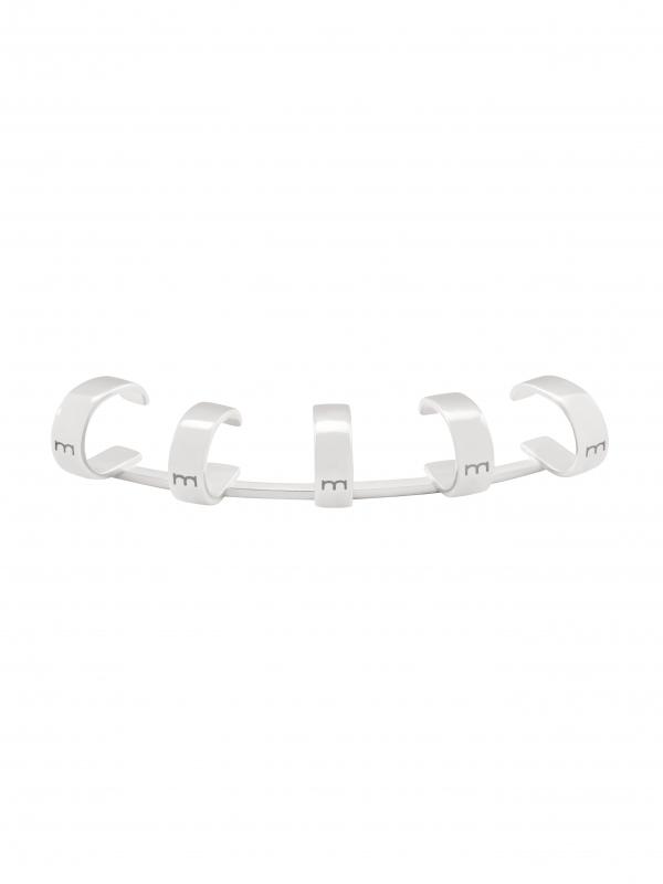 Srebrna nausznica z kółkami me4 silver srebro minimalistyczna biżuteria moie
