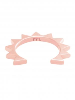 moie Nausznica z trójkącikami różowe złoto minimalistyczna biżuteria moie