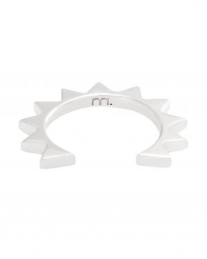 Srebrna nausznica z trójkącikami minimalistyczna biżuteria moie