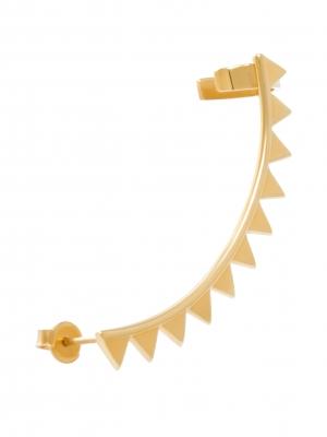 złota nausznica na całe ucho minimalistyczna biżuteria moie