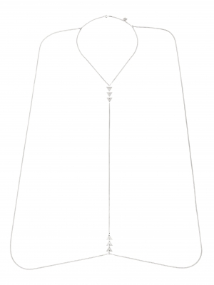moie Srebrny naszyjnik body chain minimalistyczna biżuteria moie