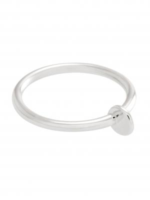 moie Srebrny pierścionek z kółeczkiem minimalistyczna biżuteria moie