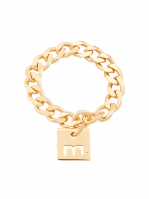 Złoty pierścionek łańcuszek me1 gold złoto minimalistyczna biżuteria moie
