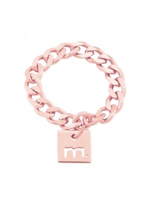 Pierścionek łańcuszek me1 rose gold różowe złoto minimalistyczna biżuteria moie