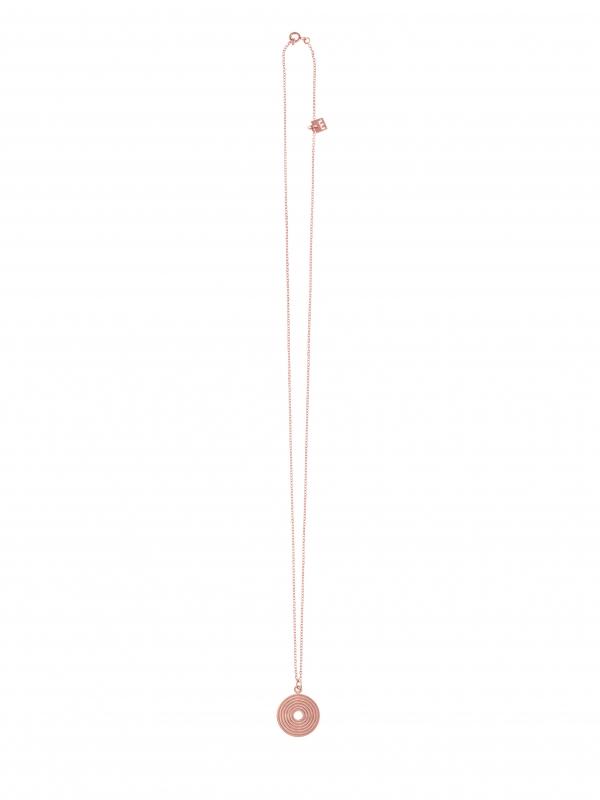 Naszyjnik z medalionem re3 rose gold różowe złoto minimalistyczna biżuteria moie