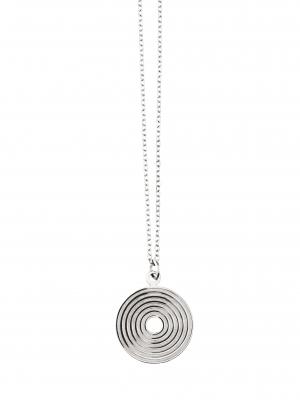 Minimalistyczny naszyjnik z medalionem re3 silver srebro minimalistyczna biżuteria moie