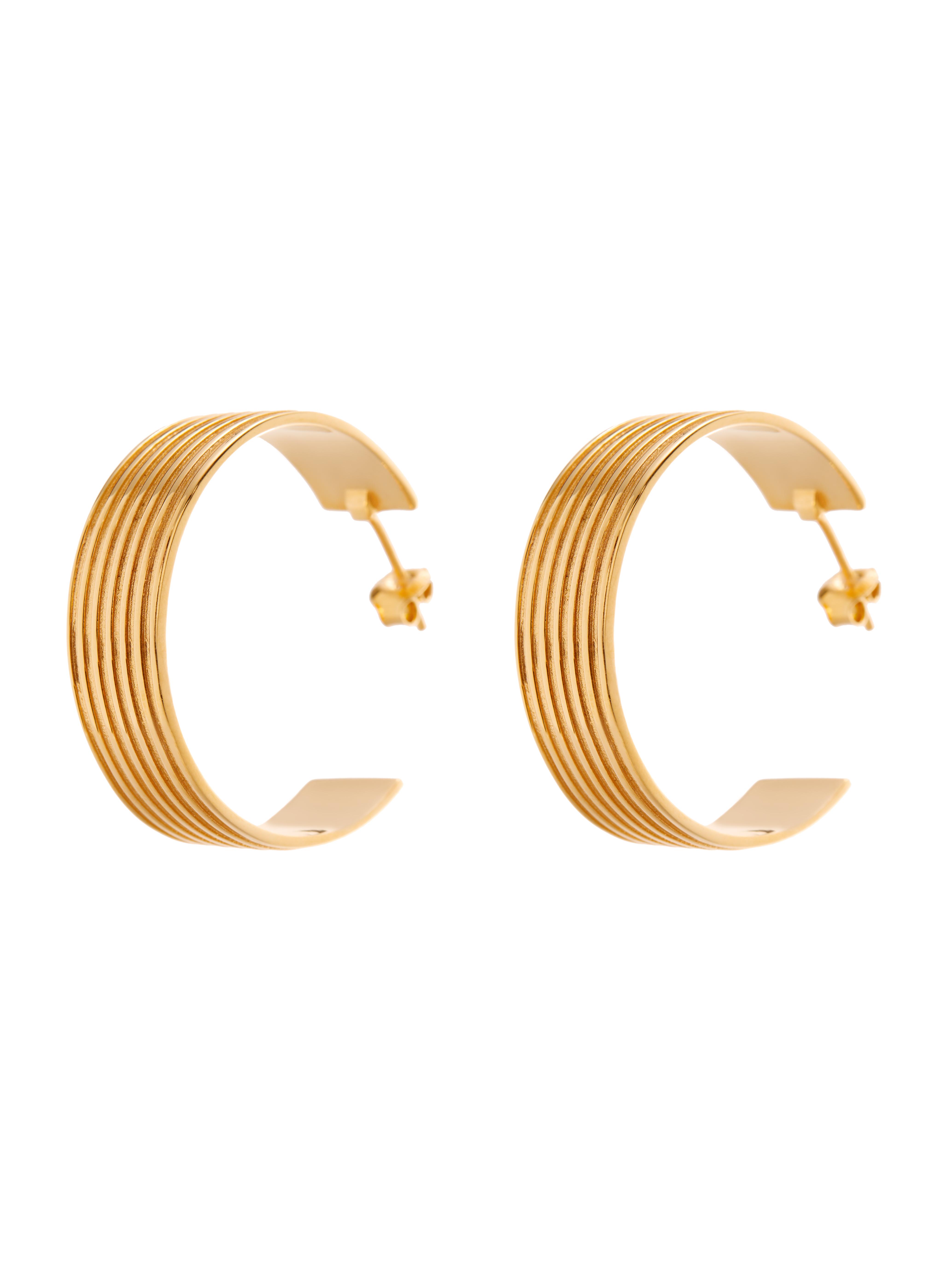 kolczyki szerokie koła re11 złoto biżuteria moie