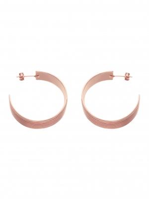 kolczyki koła szerokie re11 różowe złoto minimalistyczna biżuteria moie