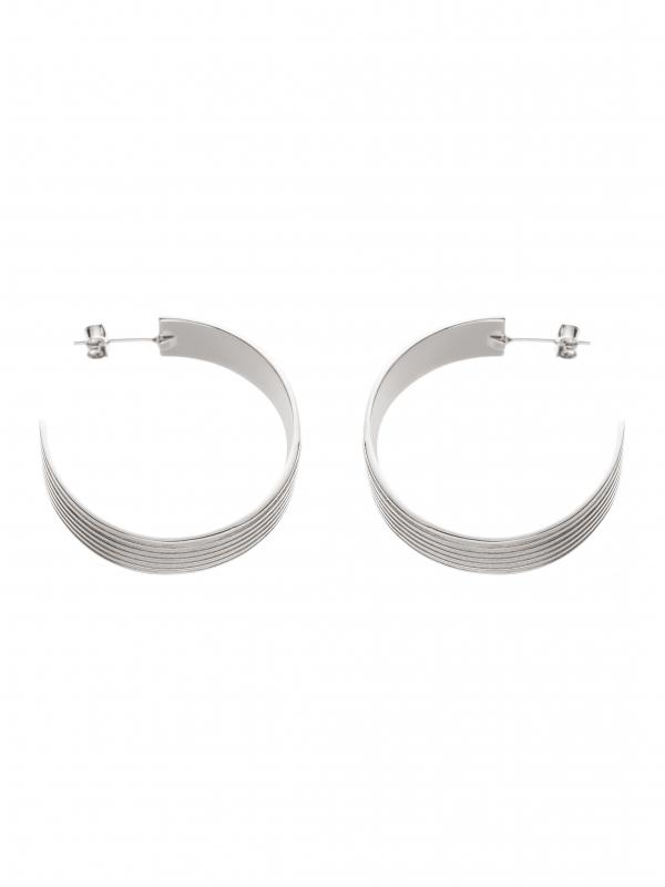 kolczyki koła duże re11 srebro minimalistyczna biżuteria moie