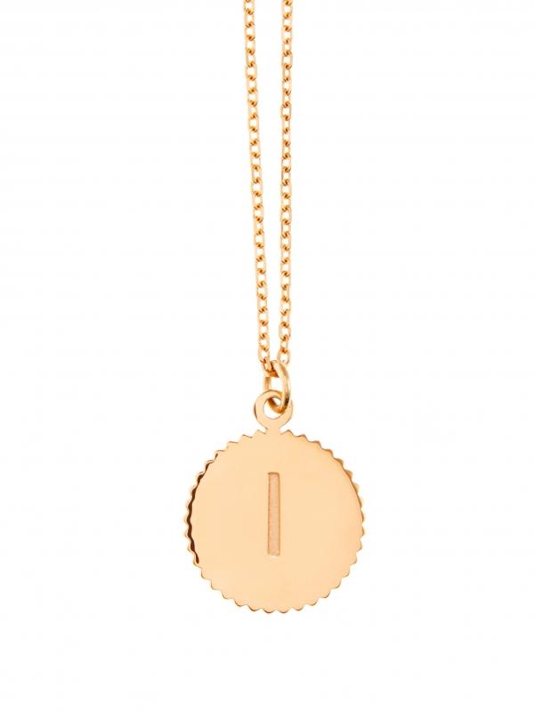 naszyjnik literka re1 gold złoto minimalistyczna biżuteria moie