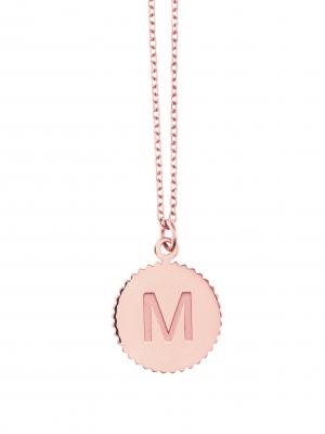 naszyjnik z literką re1 różowe złoto minimalistyczna biżuteria moie