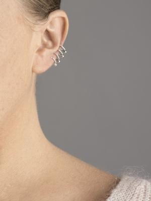 srebrna nausznica kolczyk srebro minimalistyczna biżuteria moie