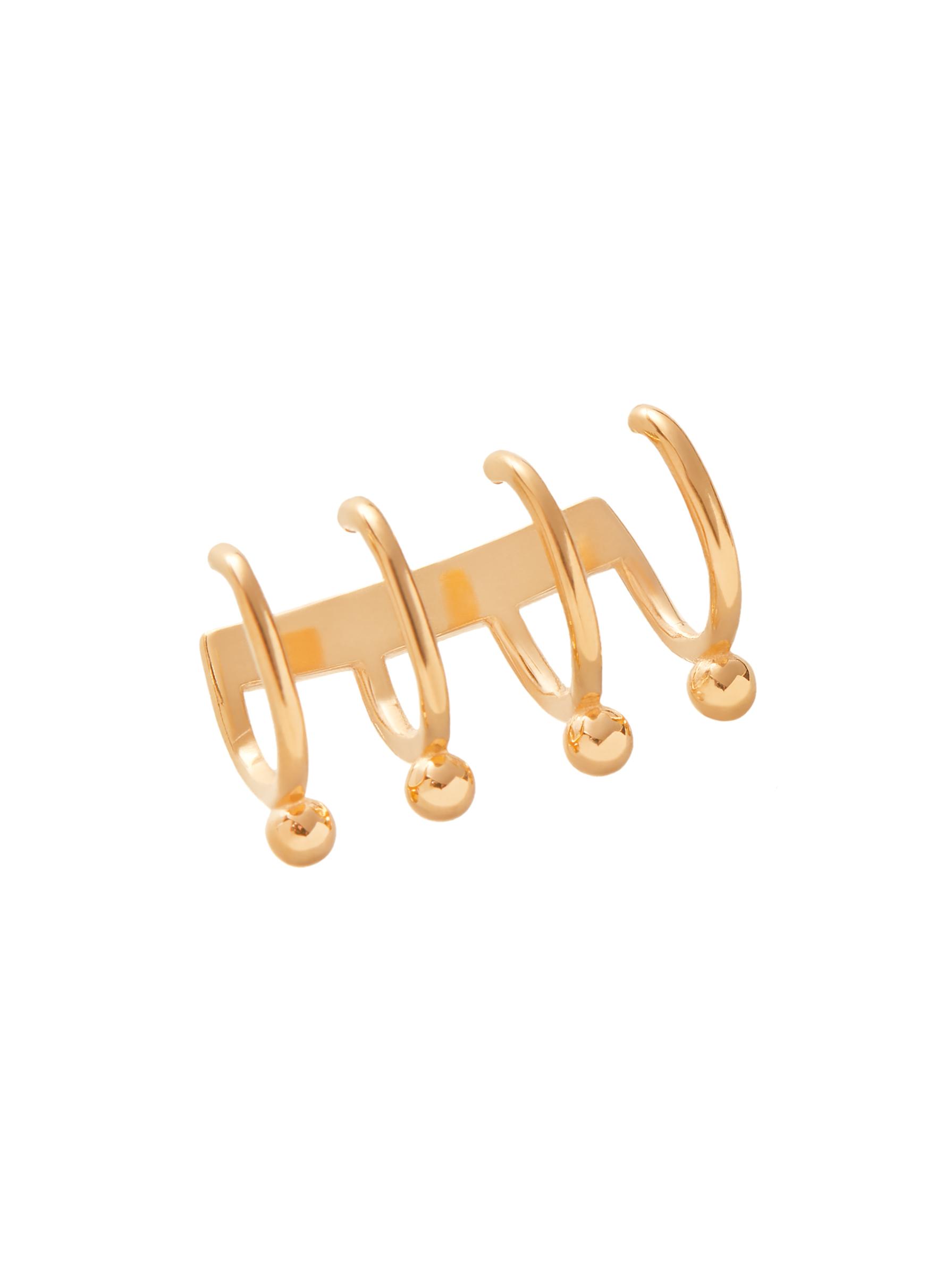 złota nausznica kolczyk minimalistyczna biżuteria moie złoto