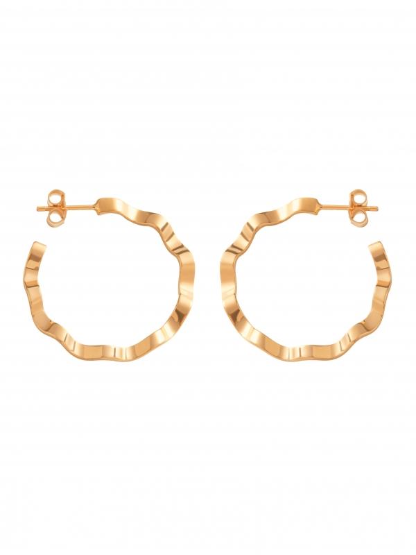 złote kolczyki kółka złoto minimalistyczna biżuteria Moie