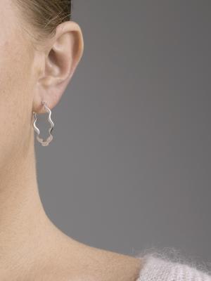 srebrne kolczyki kółka srebro minimalistyczna biżuteria moie